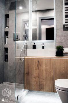 Po męsku - Mała łazienka w bloku bez okna, styl nowoczesny - zdjęcie od Zolnik Pracownia