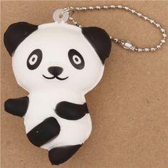 panda bear ballet squishy cellphone charm kawaii 1