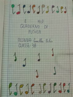 Quaderno di musica 3^B         Quest'anno abbiamo approfondito i parametri del suono.                                                  ... Italian Lessons, Thing 1, Teaching Music, Kids Songs, Primary School, Homeschool, Bullet Journal, Coding, Education