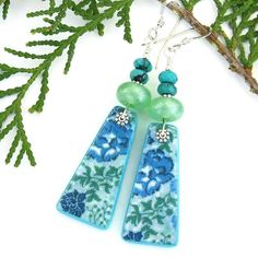 The Blue Blossoms earrings are perfect for spring and summer wear - handmade jewelry.