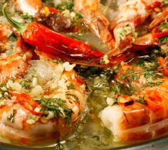 Baked Shrimp with Rich Chive Sauce Recipe