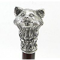 Cavagnini ''Fox'' decorative walking stick hand made in Italy
