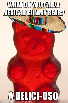 Now Never Ends~: What do you call a Mexican gummy bear?
