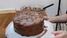 Looking for a good chocolate cake recipe? Look no further, this homemade moist chocolate cake with homemade chocolate buttercream frosting is amazing! Easy Moist Chocolate Cake, Homemade Chocolate Buttercream Frosting, Amazing Chocolate Cake Recipe, Best Chocolate Cake, Vegan Birthday Cake, Cake Flour, Love Cake, Vegetarian Chocolate, Cake Recipes