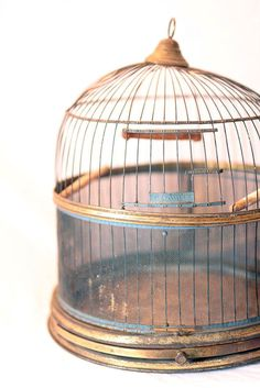 Antique Bird Cage Vintage Hendryx Bird Cage by VintageJestCafe #etsy