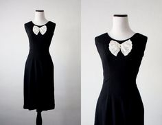 vintage 1960s lace bow dress by 1919vintage on Etsy, $52.00