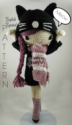 ATTENTION - Keep in mind that this is a crochet pattern in a PDF. This is NOT the finished product. Miriam is approximately 17 inches tall. Also, please keep in mind that this doll cannot stand up on its own. This is a non-refundable purchase. Once the payment has been confirmed you