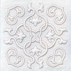 Quilt Blocks, Quilting, Trapunto, Hearts and Swirls, Machine Embroidery Design, Digital Pattern, Instant Download