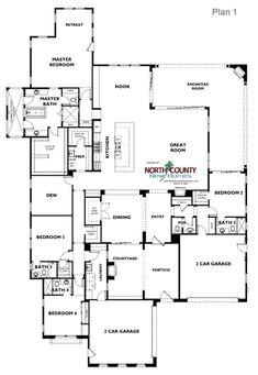 Floor plan 3 at bella vista in san elijo hills san marcos - 4 bedroom house for sale san diego ...