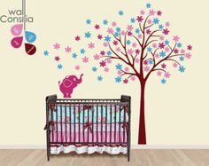 Baby Kinderzimmer Wandtattoo Baum Wall Decal von WallConsilia