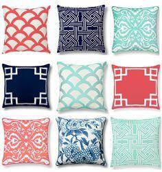 C Wonder Home Decor Throw Pillows Graphic Navy Coral Mint Pistachio Olive Lane C.Wonder
