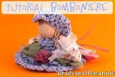 Tutorial, originali bomboniere all'uncinetto, bamboline all'uncinetto, bomboniere fai da te,