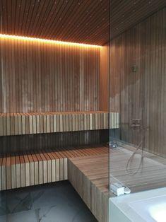 Sauna Wellness, Bio Sauna, Indoor Sauna, Sauna Design, Infrared Sauna, Downstairs Bathroom, Hotel Spa, Jacuzzi, Home Projects