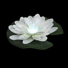 FOR-12515, Floating LilyLite, Decorative Lighting, Ponds, Pools, Center Pieces, Lillies, White, LED, Float, Floating, Lily, Lilly, Lite, Lig...
