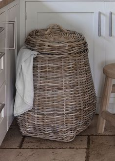Laundry Basket with Rope Handle at Garden Trading
