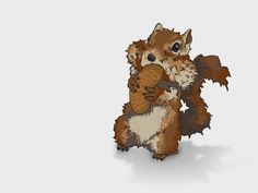 Squirrel digital illustration Squirrel Illustration, Digital Illustration, Graphic Illustrations, Bowser, Teddy Bear, Graphic Design, Creative, Animals, Fictional Characters