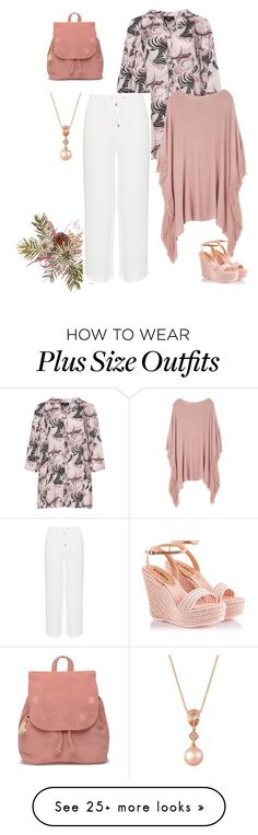 """""""plus size donna"""" by aleger-1 on Polyvore featuring Zhenzi, Melissa McCarthy Seven7, Fratelli Karida, TOMS, LE VIAN and plus size clothing"""