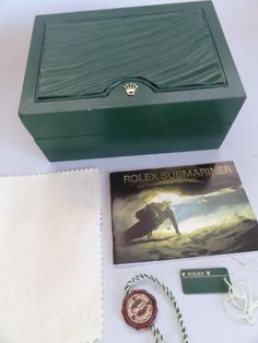 RARE ROLEX WATCH CASE IN GREEN COLOR GENEVE SUISSE