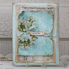Winter Mixed Media Canvas online class by Tammy Tutterow at www.craftwithmay.com.  Link to registration page on my blog.