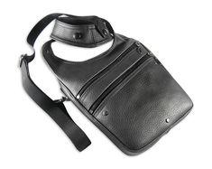 Leather shoulder holster bag / holster bag Made in FRANCE Sacoche Holster, Backpack Bags, Sling Backpack, Lucas Black, Leather Halter, Jean Crafts, Leather Skin, Artificial Leather, You Bag