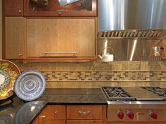 subway+glass+and+stone+tile+backsplash | Tile Backsplashes Can Spruce up Any Kitchen | SouthGate Chamber