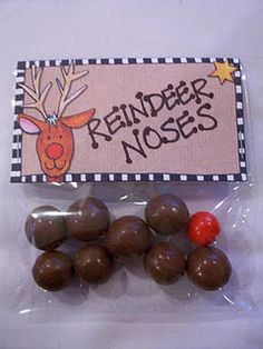 "Reindeer Noses - better than the glitter/oatmeal ""reindeer food"""