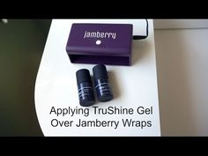 Applying Jamberry TruShine Gel Over Wraps - YouTube