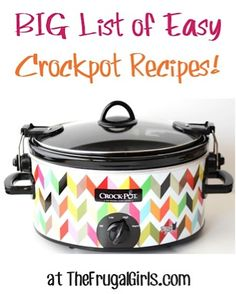 EASY CROCKPOT RECIPES! – The Frugal Girls Blog – #Crockpot – mostly chicken, some dips/ drinks/ desserts