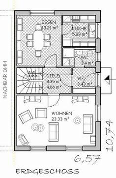 Grundrisse für Doppelhaushälften planos en 2019 House