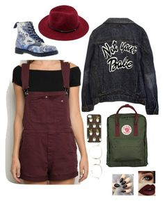 """Art Hoe Aesthetic"" by thprttiestgrltthprty on Polyvore featuring Fjällräven, Dr. Martens and Ray-Ban"