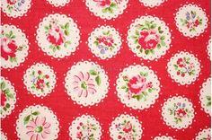 Scallop flower  Red by Atsuko Matsuyama  Printed in by lilymeru, $6.00