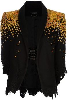 ShopStyle: Pierre-Antoine Vettorello Beaded felt jacket