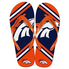 Men's Denver Broncos  Black Flip Flops