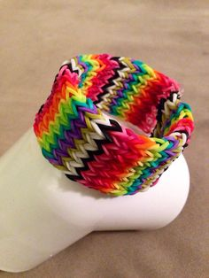 Rainbow loom 6 row Cross Fishtail