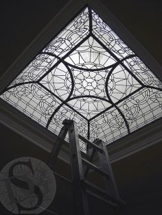 RadcliffeAve Square Leaded Glass Dome by Solarium Design, via Flickr