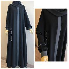 Burqa Designs, Abaya Designs, Hijab Style Dress, Hijab Chic, Habits Musulmans, Abaya Fashion, Fashion Outfits, Estilo Abaya, Modern Abaya