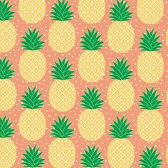 Tropical Pineapple Wrapping Paper  - 3 Sheets