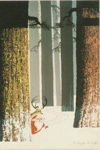 Love this by Ralph Hulette reminds me of Eyvind Earle
