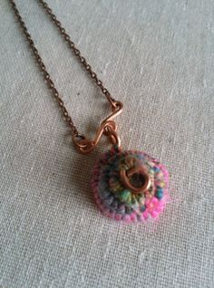 Handspun and Recycled Copper Coil Pendant with by BricolageStudios, $25.00