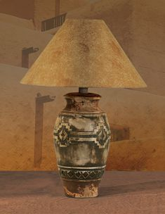 Rustic southwestern lamp love the shade its texture mimics suede southwest table lamp ach 6188 mozeypictures Image collections