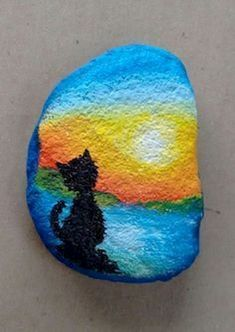 50 Inspiring DIY Painted Rocks Animals Cats for Summer Ideas 30 diy Pebble Painting, Pebble Art, Stone Painting, Diy Painting, Painted Rock Animals, Hand Painted Rocks, Painted Pebbles, Rock Painting Ideas Easy, Rock Painting Designs