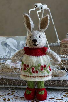 Gebreide Kerstkonijn van little cotton rabbit