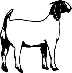 boer goat silhouette clipart panda free clipart images showing rh pinterest com goat clip art images goat clip art images