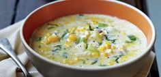 Looking for a corn chowder recipe? This delicious Curtis Stone recipe is easy to make.