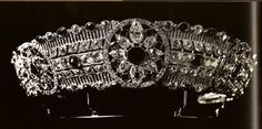 The diamond and ruby tiara from the jewel collection of Grand Duchess Maria Pavlovna.