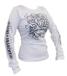 BikerOrNot Store - Sons of Anarchy - Ladies Tribal Roses Long Sleeve Shirt, $26.97 (http://store.bikerornot.com/sons-of-anarchy-ladies-tribal-roses-long-sleeve-shirt/)