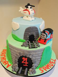 Thomas the Tank Engine Cake NIck wants this for his birthday