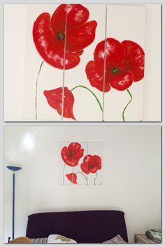 Peinture acrylique de la série des coquelicot terminé