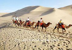 Riding a camel ... Gobi Desert... Dunhuang, China