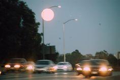 serenamosa:  Full moon on the highway.